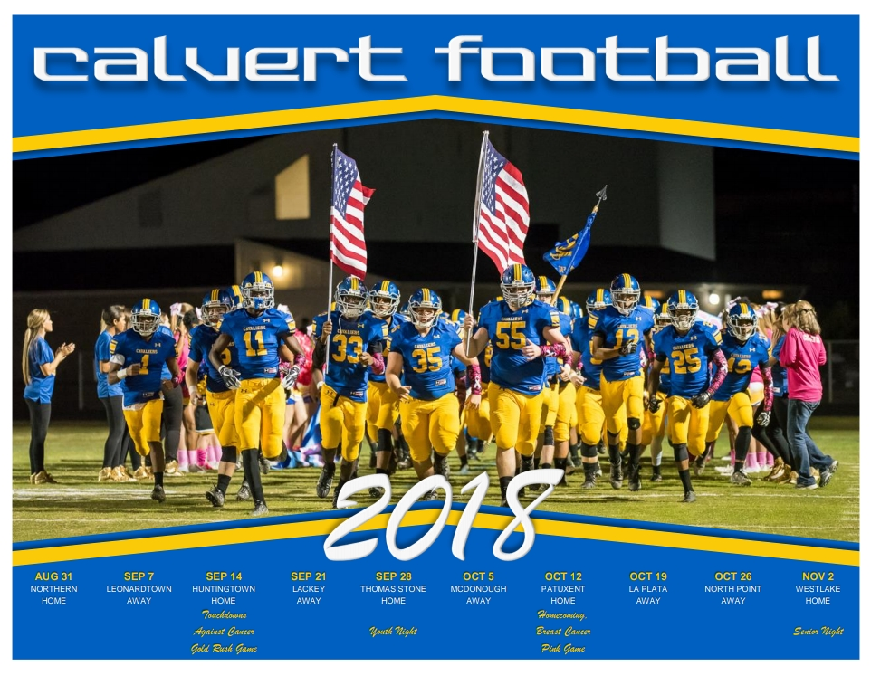 photo regarding Cavs Printable Schedule named Calvert Cavaliers Soccer » The 2018 Calvert Soccer Routine